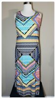 Plus Size Tank Maxi Dress 1X Womens Striped Sundress Beach Cover Up NWOT