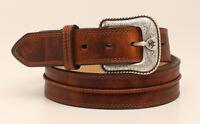 Ariat Men's Distressed Medium Brown Leather Belt A1019444
