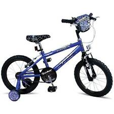 "Coyote Boys 16"" Blue Spider Bike with Stabilisers BMX Style Handlebar BRAND NEW"