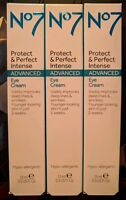 x3 No7 Protect & Perfect INTENSE ADVANCED Eye Cream 15ml New & Boxed RRP: £54.00