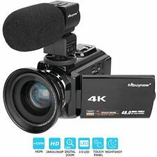 4K 48.0 MP TOUCH SCREEN PRO Vlogging Vlog Camera With Microphone Mic For Youtube