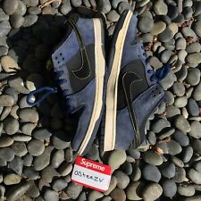 "Nike SB Skateboarding 2011 ""Midnight Navy Black"" Dunk Low Shoes Size 11"