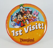 """Disneyland """"1st Visit!"""" with the Mickey Mouse family, Original  Button Pin"""