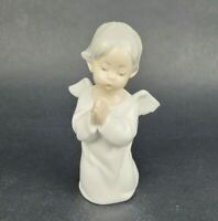 """LLADRO 4538 Praying Angel Child Cherub Kneeling Praying Porcelain Figurine 5.25"""""""