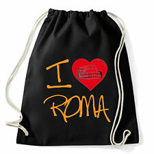 Art T-shirt, Zaino I Love Roma, Nero, Sacca Gym