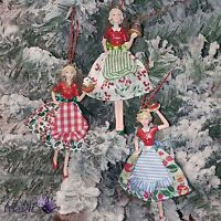 Gisela Graham Bake Off Angel 50s Retro Fairy Hanging Christmas Tree Decoration