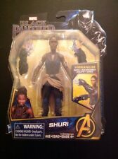 "MARVEL HASBRO SHURI BLACK PANTHER 6"" MOVIE ACTION FIGURE HTF MIP NEW"