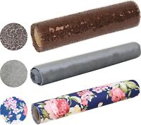 Table Runner Wedding Decor - Silver Brown Floral Fabric Roll For Dinner Party