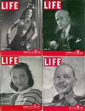Lot of 4 LIFE Magazines~Good~9/22/1941~11/11/1946~9/4/1944~7/21/1941