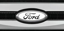 Read the Description! Ford Overlay Logo White/Black Sticker-Decals 3pc kit.