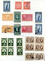 BRAZIL 23 STAMPS LOT, MH & USED