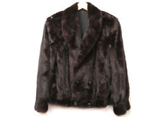 Authentic Mink Furs Coat Brown Black Men's Unisex Jacket U2788ZSPZ5