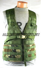 US Military FIGHTING LOAD CARRIER FLC Tactical Vest w ZIPPER Woodland MOLLE MINT