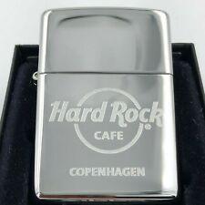 Hard Rock Cafe Zippo Lighter COPENHAGEN 🇩🇰 - polished Chrome - NEW