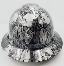 FULL BRIM Hard Hat custom hydro dipped , NEW DEMONIC SKULLS KILLER NEW