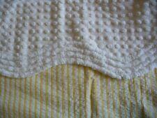 chenille, bedspread, pops, white, scallop edging, perfect condition