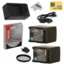 Batteries with Charger Included for Canon Camcorders