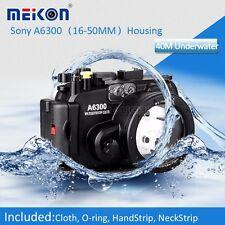 Meikon Underwater Waterproof Housing Case for Sony A6300 Camera 16-50mm Lens