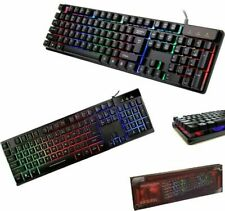 TASTIERA GAMING RGB LED RETROILLUMINATA PC KEYBOARD USB GAMING COMPUTER LAPTOP