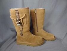 Ugg Australia Beige Winter Boots for kids Zip up on side size 1