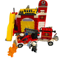 INCOMPLETE Lego Duplo 6168 Fire Station - No Box