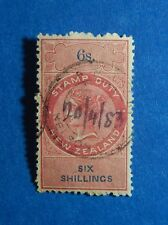 1867 6S NEW ZEALAND STAMP DUTY REVENUE BAREFT# 102 USED DIE I PERF 12.5  CS33167