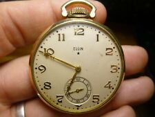 1938 Elgin Pocket Watch 12s 15j Gr315 10K Gold Filled Case Runs!