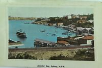 .LAVENDER BAY, SYDNEY RARE 1910 POSTCARD. NEW SOUTH WALES.
