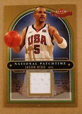 2003-04 Fleer Patchworks Jason Kidd TEAM USA Game Used Worn Jersey Card /350