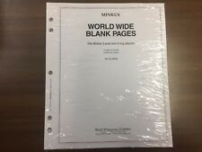 1 Pack Minkus # MF2BL World Wide Blank Pages, NEW!!!