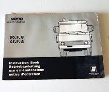 Manuale uso e manutenzione FIAT 50.F.8 e FIAT 55.F.8 USATO ORIGINALE D'EPOCA