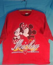 VINTAGE DISNEY UNLIMITED MICKEY MOUSE kissing Minnie T-SHIRT ONE SIZE Valentine