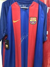 Barcelona Lionel Messi Signed Soccer Jersey Auto Beckett BAS COA