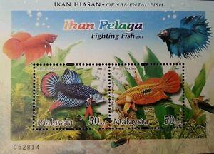 *FREE SHIP Fighting Fish Malaysia 2003 Ornamental Pet Aquarium Animal (ms) MNH