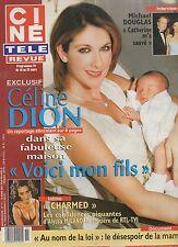 CINE REVUE (belge) 2001 N°11 celine dion michael douglas alyssa milano