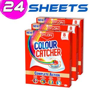 24 x Dylon Colour Catcher Complete Action Laundry Sheets 24 sheets Protect Color