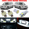 18Pcs For Honda Odyssey 2010-2005 Car Interior LED Light Bulb Package Kit White