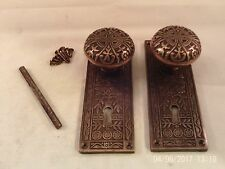 Antique Brass Door Knob Set Mortise Lock Key Door Set  11 sets avail.   #724