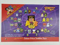 VTG McDonald's 2000 Monster Crazy Bones Happy Meal Toys Translite Display Sign