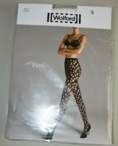 $67 New WOLFORD PATTI Net Tights White S Small
