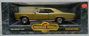 1966 PONTIAC GTO GOLD 66 AMERICAN MUSCLE ERTL 1/18