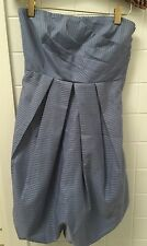 Dotti Size 8 Silvery Blue & Bronze Strapless Cocktail Formal Party Dress EUC