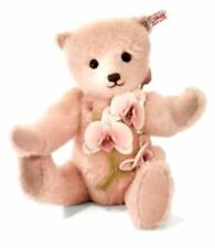"STEIFF ""LAELIA"" TEDDY BEAR-EAN 035111-PALE PINK MOHAIR WITH ORCHIDS-2013"