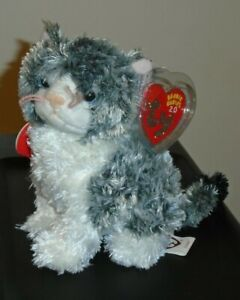 ST* Ty 2.0 Beanie Baby - CRICKET the Cat (6 Inch) MINT with MINT TAGS (STICKER)