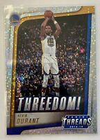 2018-19 Panini Threads Threedom! Dazzle Kevin Durant #5