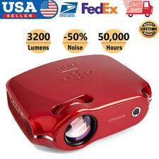 3D Portable LED Projector HD 1080P 3200Lumen HDMI/USB/SD/AV Home Cinema Video US