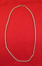 "LOT OF 5 PCS 14KT YELLOW GOLD EP 17"" 3.5MM FLEXIBLE ROPE NECKLACE CHAIN"