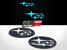 Front & Rear White Stars Glowing Glow Badge Emblem For 2015-up Subaru WRX STI