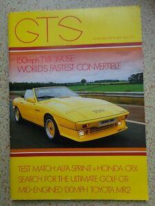 'GTS' - CAR MAGAZINE from November / December 1984 - SEE PHOTOS - RARE ITEM.