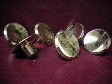 "6 VINTAGE MID CENTURY BRASS CABINET DOOR PULL KNOB 2"" CONCAVE MORE AVAILABLE"